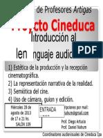 Afiche Proyecto Cineduca Curso Introducción Al Lenguaje Audiovisual