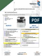 Ricoh Mp301 Nueva (2 Bandejas)