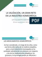 La Validacion, Un Gran Reto en La Industria Homeopatica