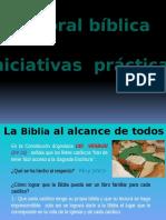Pastoral Bíblica- Iniciativas Prácticas