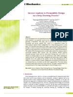 Inverse Analysis in Deep Process
