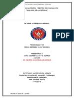 Informe de Laboral Consultorios