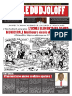 Journal Scolaire departemental Ecole du Djoloff Mars 2016
