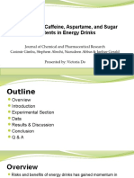 evaluation of caffeine aspartame and sugar