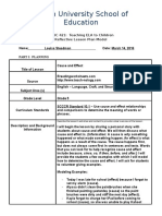 educ 421 reflective lesson plan - cause and effect