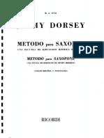 Jimmy Dorsey Sax Alto Method