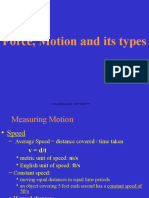 Gs Forfce Motion and Gravity