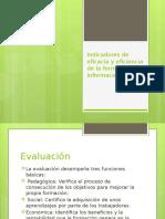 Indicadores de Eficacia y Eficiencia de La Formación
