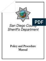2015 San Diego County Sheriff's Policy and Procedure Manual