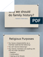 why we should do family history