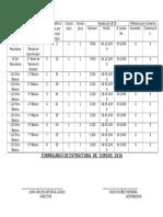 Formulario Nuevo Estructura de Curso 2016