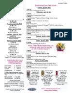 April 17, 2016 Bulletin