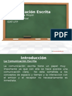 Curso Comunicación Escrita 2016-1