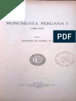 1 Monumenta peruana