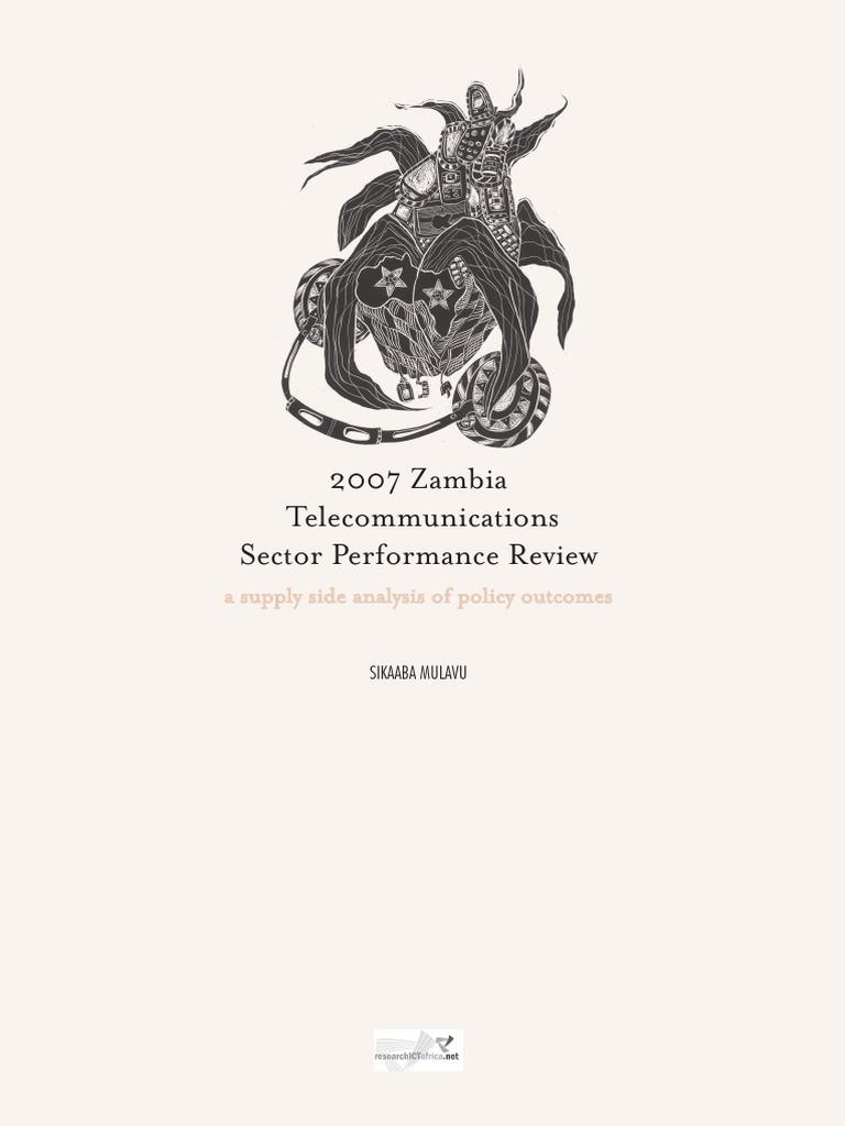 Zambia Telecommunications Sector Performance Review 2007