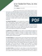 Historia de La Ciudad de Puno