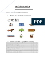 Guía Formativa Ciencias Naturales.