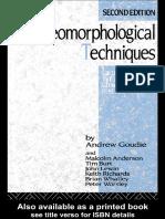 Livro Geomorphological Techniques