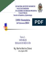 Variables Medición - ED Pomalaya