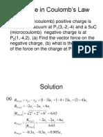 Example in Electrostatics