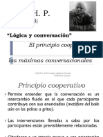 -----. Principio Cooperativo y Máximas Conversacionales de Grice