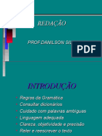 Aula Redação Tipologia Foco Dissertação 2016
