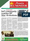 Manila Media Monitor -- APRIL 2010