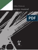 DELEUZE GILLES - El Tiempo Musical