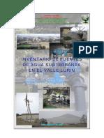 Estudio Min Agricultura Fuente Agua Subterranea Lurin 2005