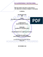 SEMINARIO SEGURIDAD ALIMENTARIA Y NUTRICIONAL