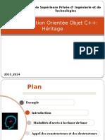 Chapitre Héritage Programmation  C++