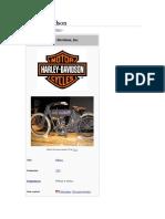 Breve Historia de Harley Davinson