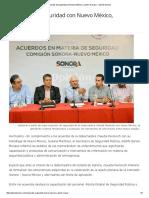 14/04/16 Acuerdos de Seguridad con Nuevo México, a partir de Mayo -Opinión Sonora
