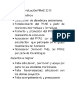 Evaluación PRAE 2015