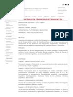 Ee-521 Propagacion y Radiacion Electromagnetica i Facultad de Ingeniería Eléctrica y Electrónica