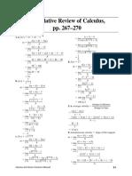 Calculus Cumulative Review