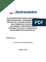PLAN DE MONITORIO ARQUEOLOGICO