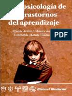 Neuropsicología de Los Trastornos de Aprendizaje - Ardila, Roselli y Matute
