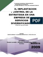 Diseño, Implantación y Control de La Estrategia