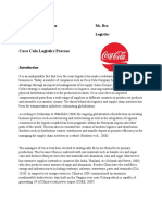 Logistics process of Coca Cola