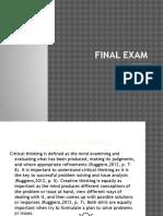 powell assignment - final exam