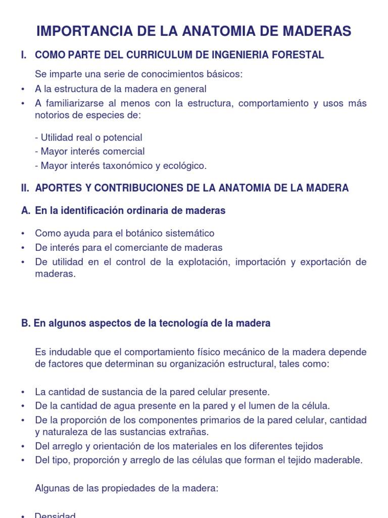 Importancia de La Anatomia de Maderas [Modo de Compatibilidad]