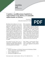 Cambios y modificaciones legislativas- Repercusiones en La Oferta y El Contenido Audiovisuales en Mexico