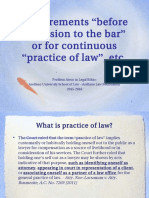 1. Requirements for Practice of Law