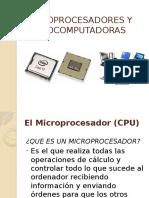 Microprocesador y Microcomputadoras
