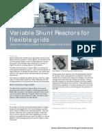 Case Study Variable Shunt Reactors for Flexible Grids