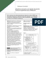 Eficacia de La VMNI Con PS en IR Post Extubacion