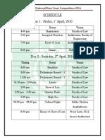 Schedule - 6th JNMCC