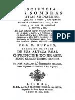 A Sciencia Das Sombras Relativas Ao Desenho, Tradução de José Mariano Da Conceição Veloso - Dupain (1799)
