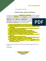 Carta de Induccion (ejemplo)